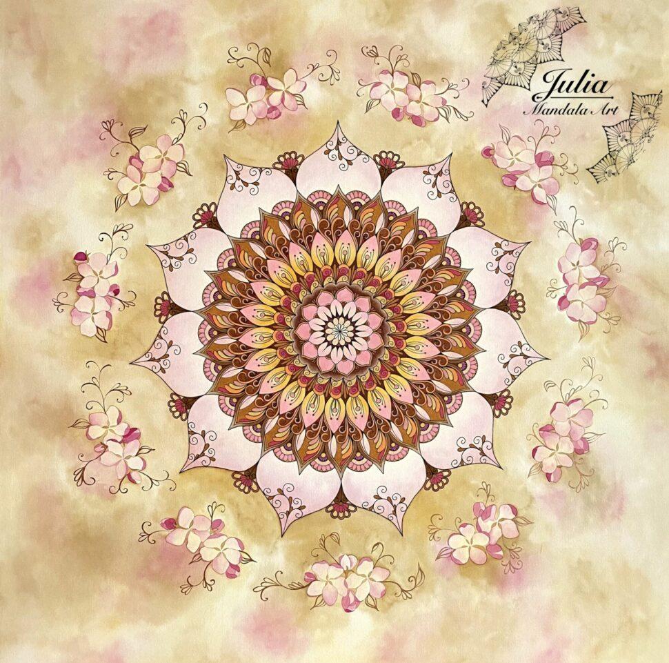 Mandala Jabloňové květy